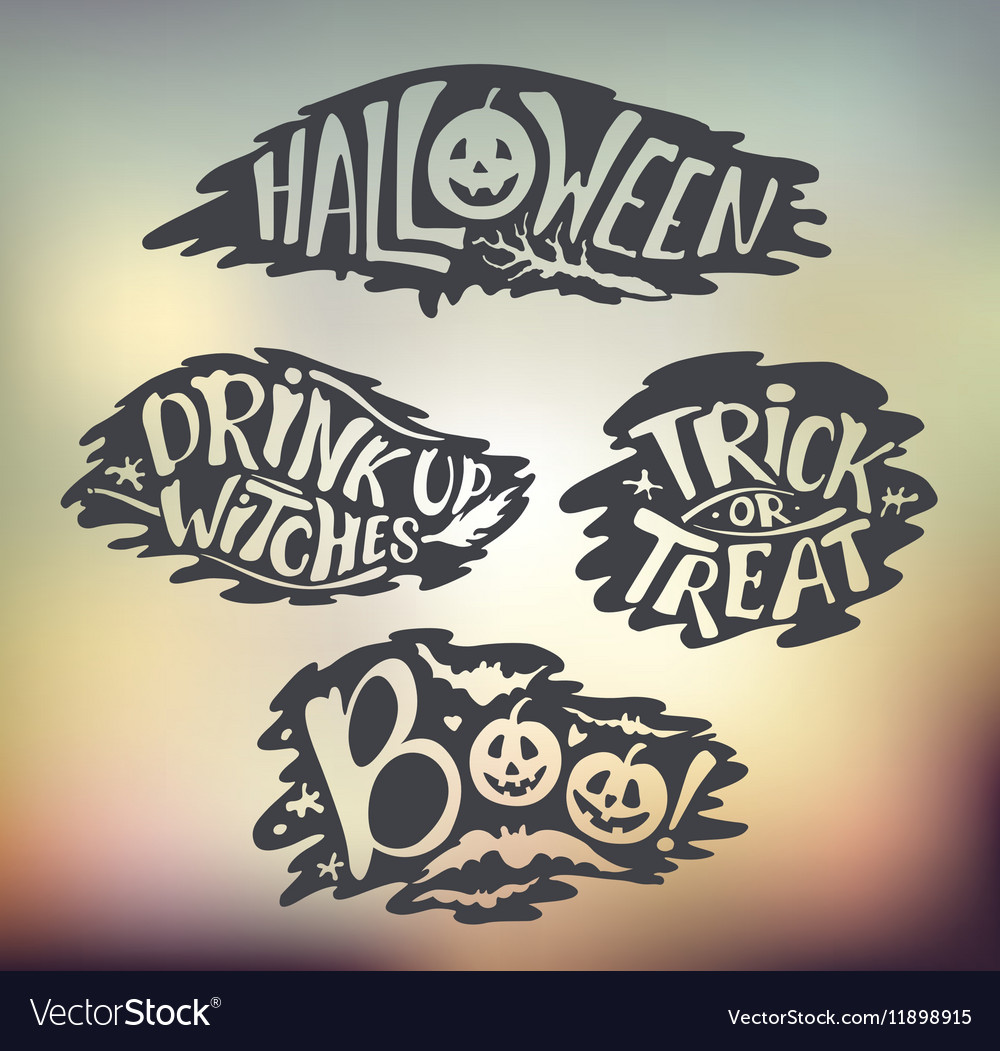 Happy Halloween Calligraphy backgrounds