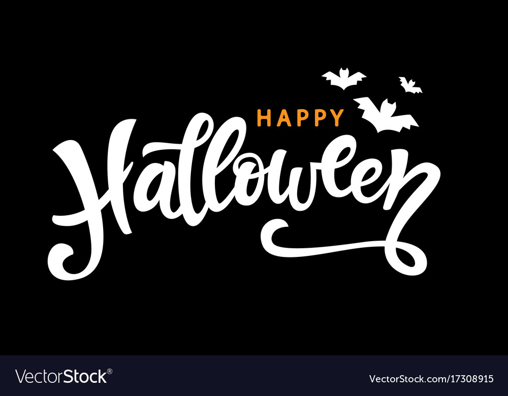 Happy halloween handwritten lettering