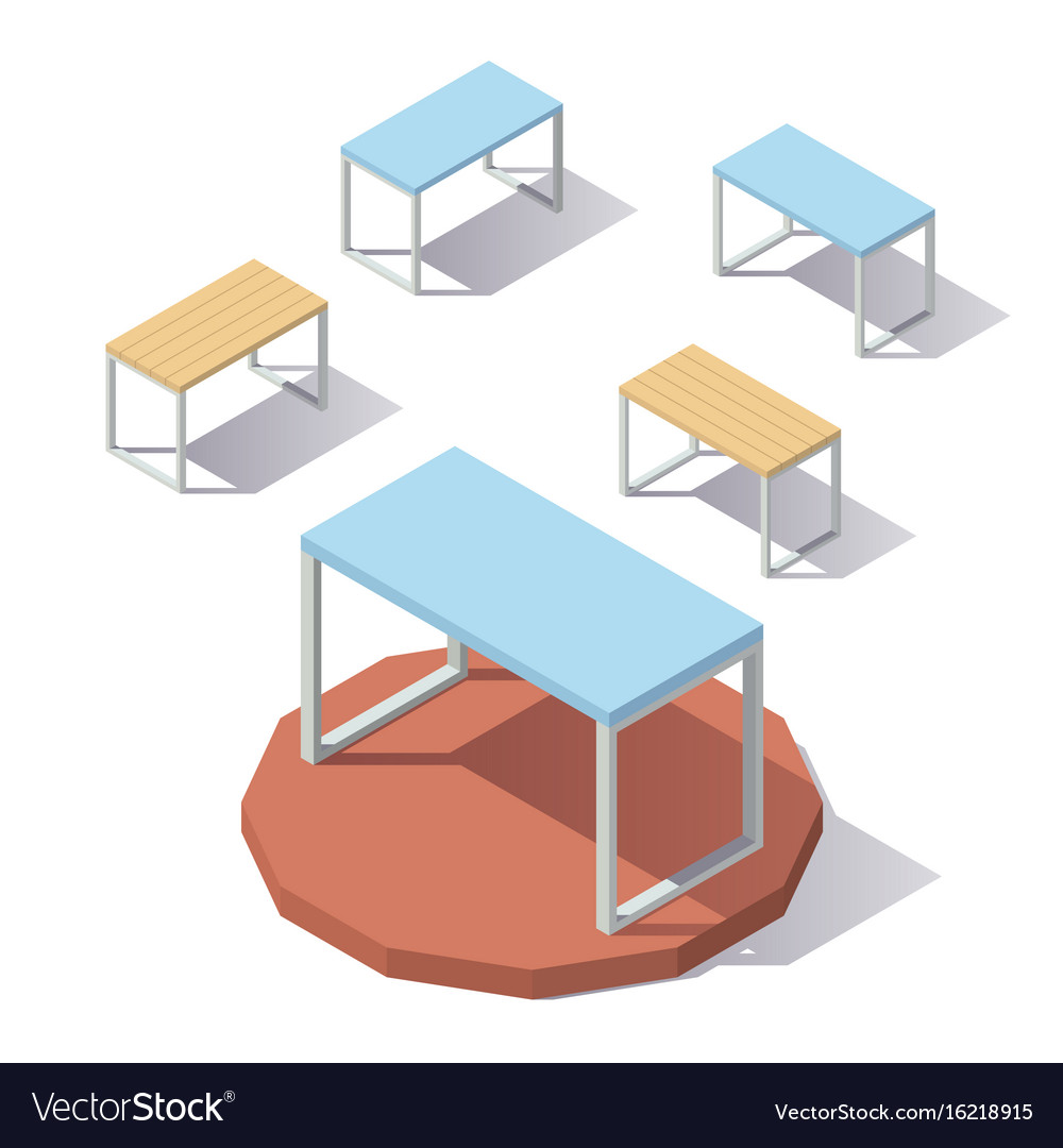 Lowpoly isometric office table