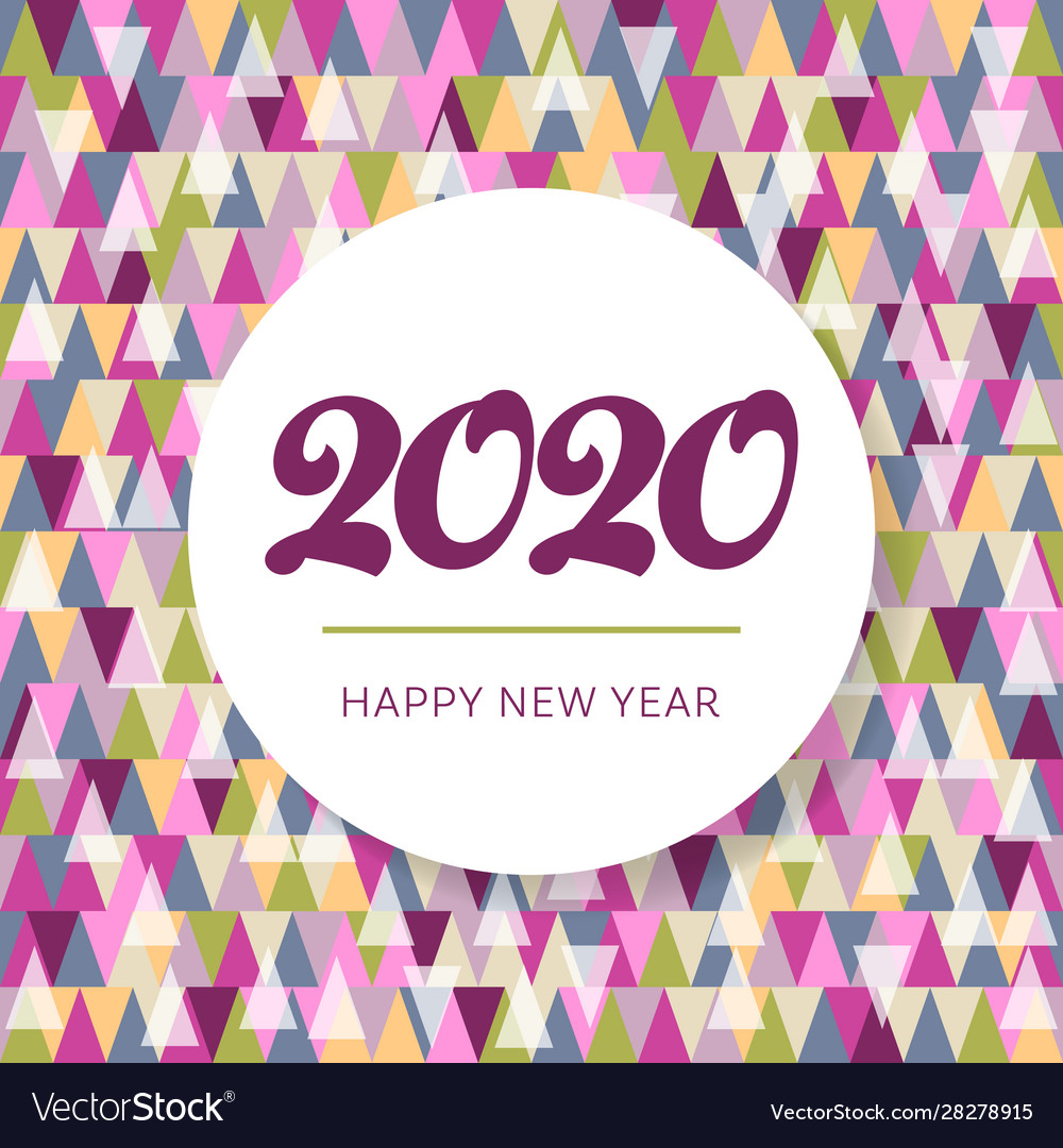 Mosaic happy new year 2020 website banner