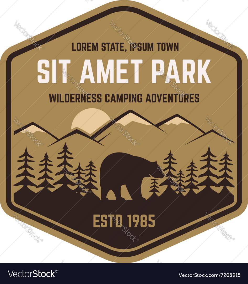 National park vintage badge Mountain explorer