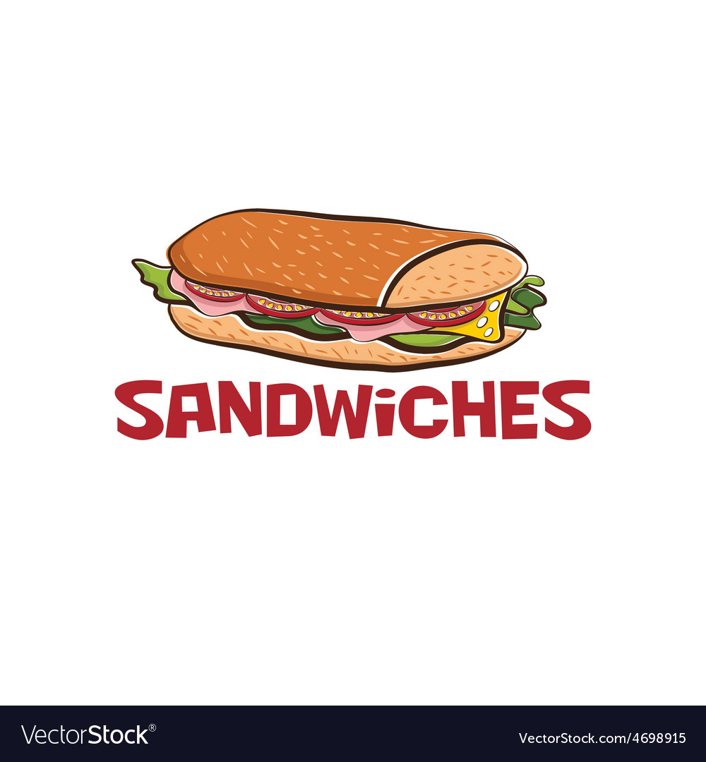 sandwich design template royalty free vector image
