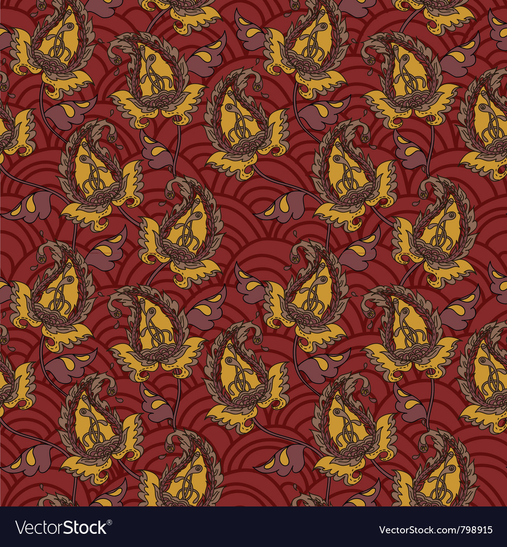Seamless background from a paisley ornament vector image