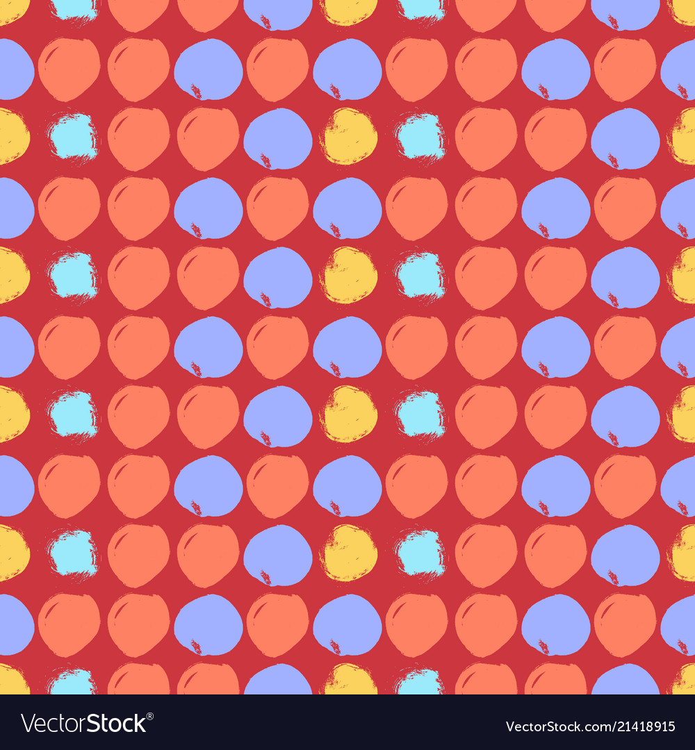 Seamless colorful pattern with circles