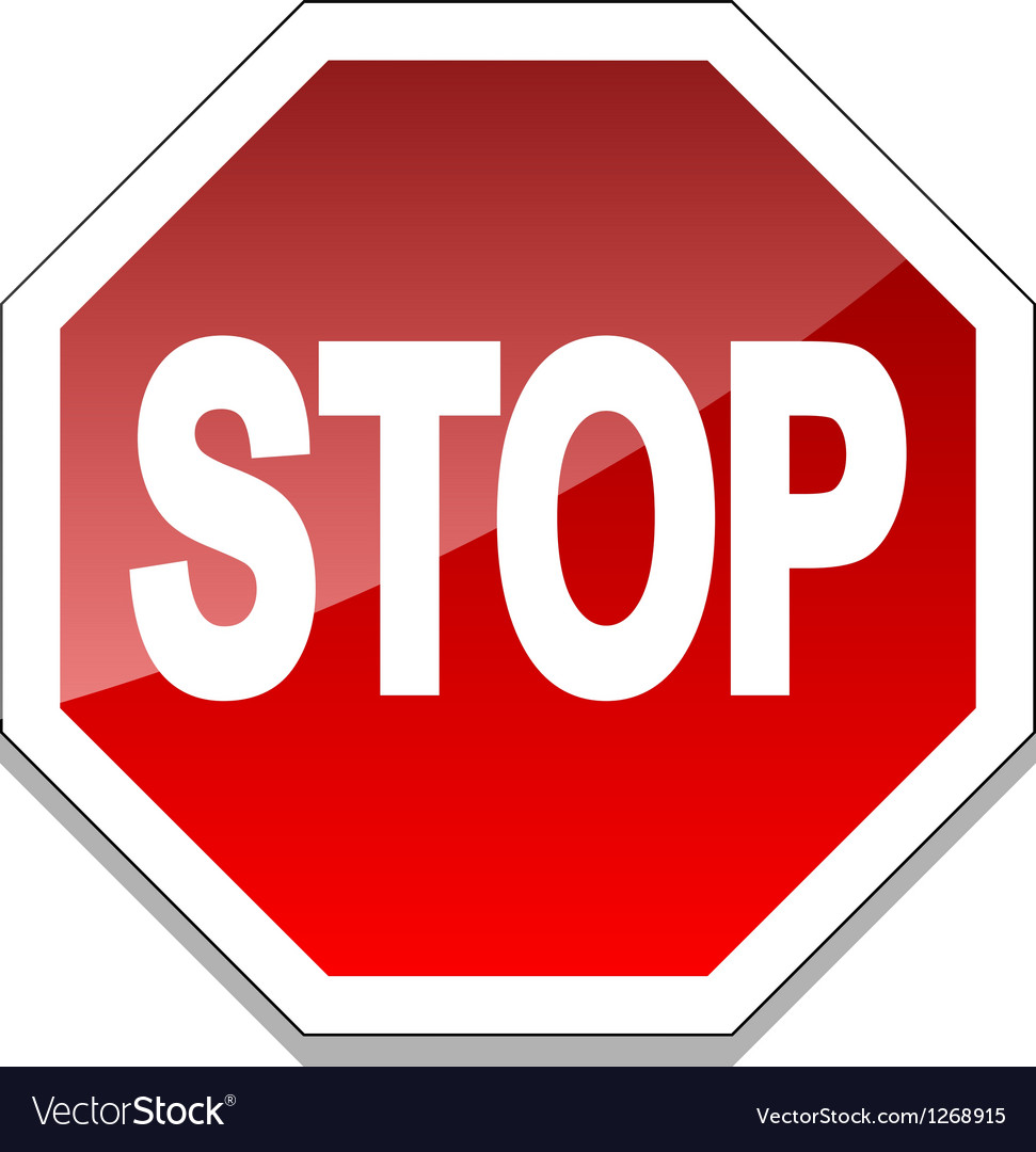 stop sign royalty free vector image vectorstock rh vectorstock com stop sign vector image stop sign vector art free