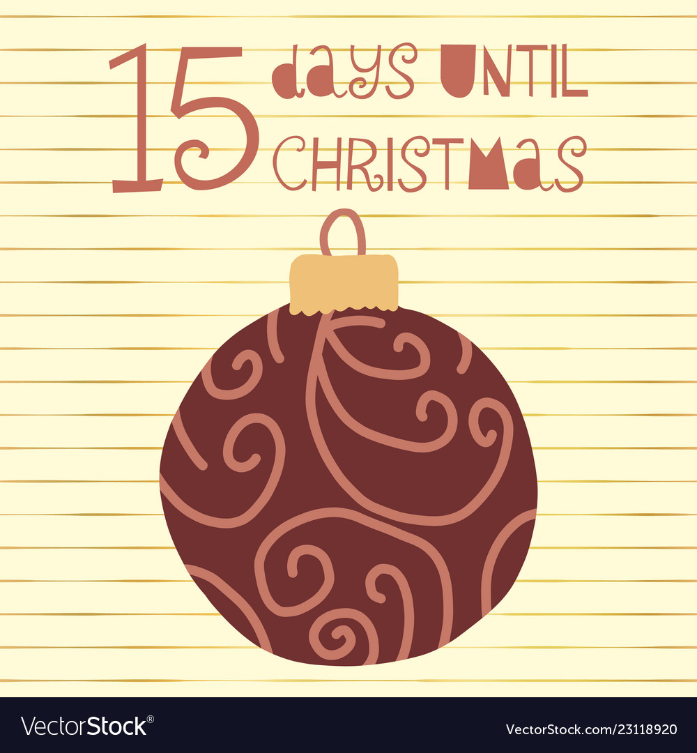 15 days until christmas Royalty Free