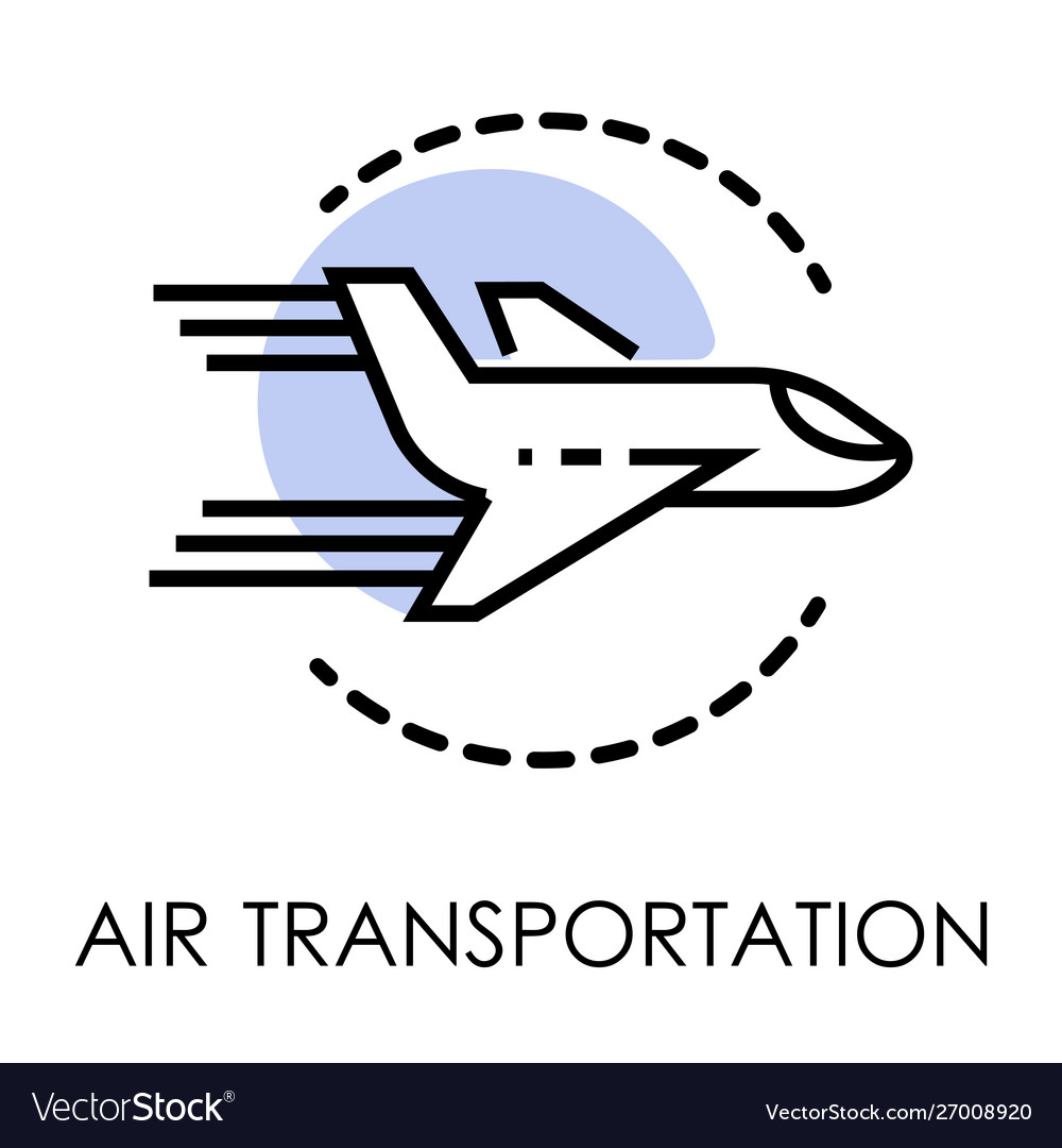 Air transportation isolated icon airport and