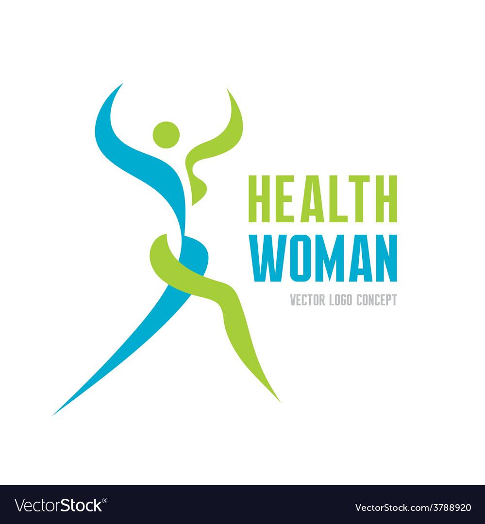 Health woman - logo concept