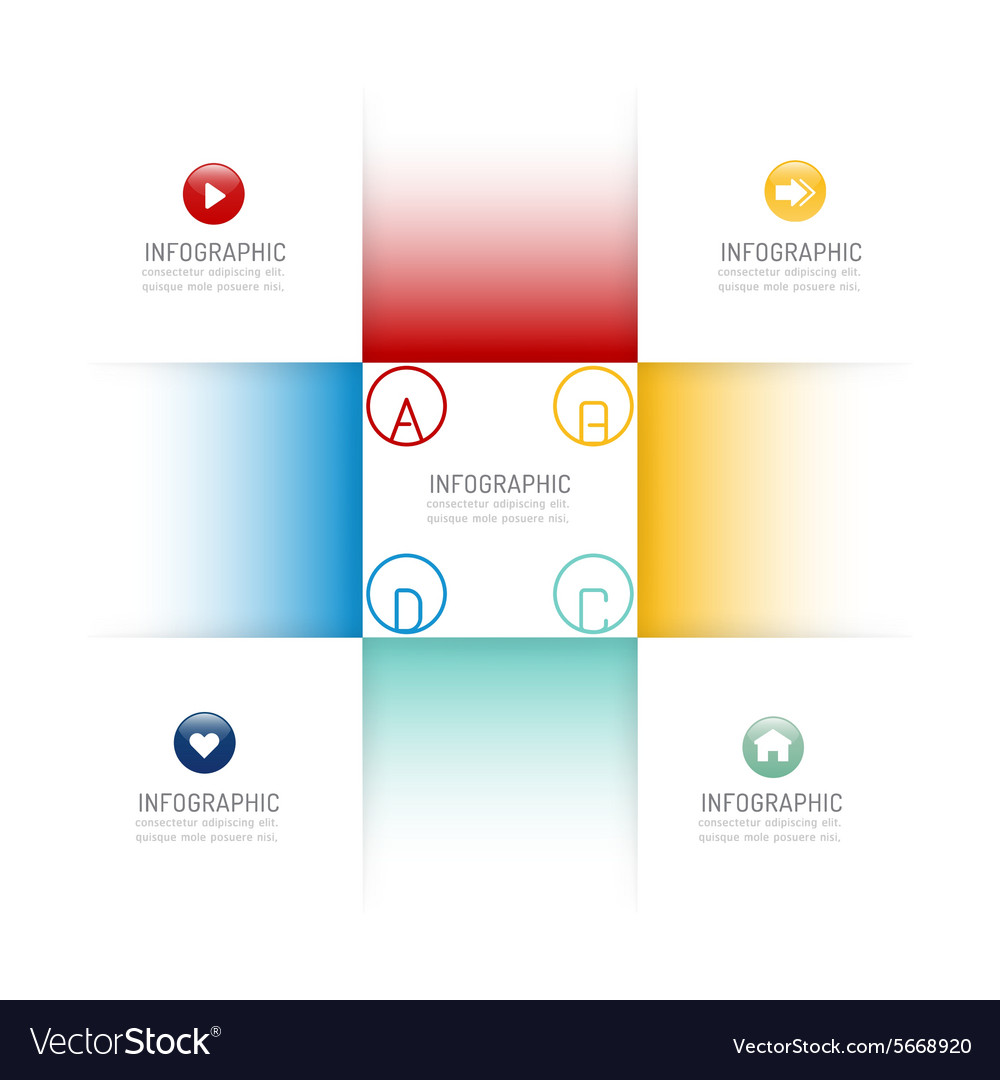 Infographic design template options banner