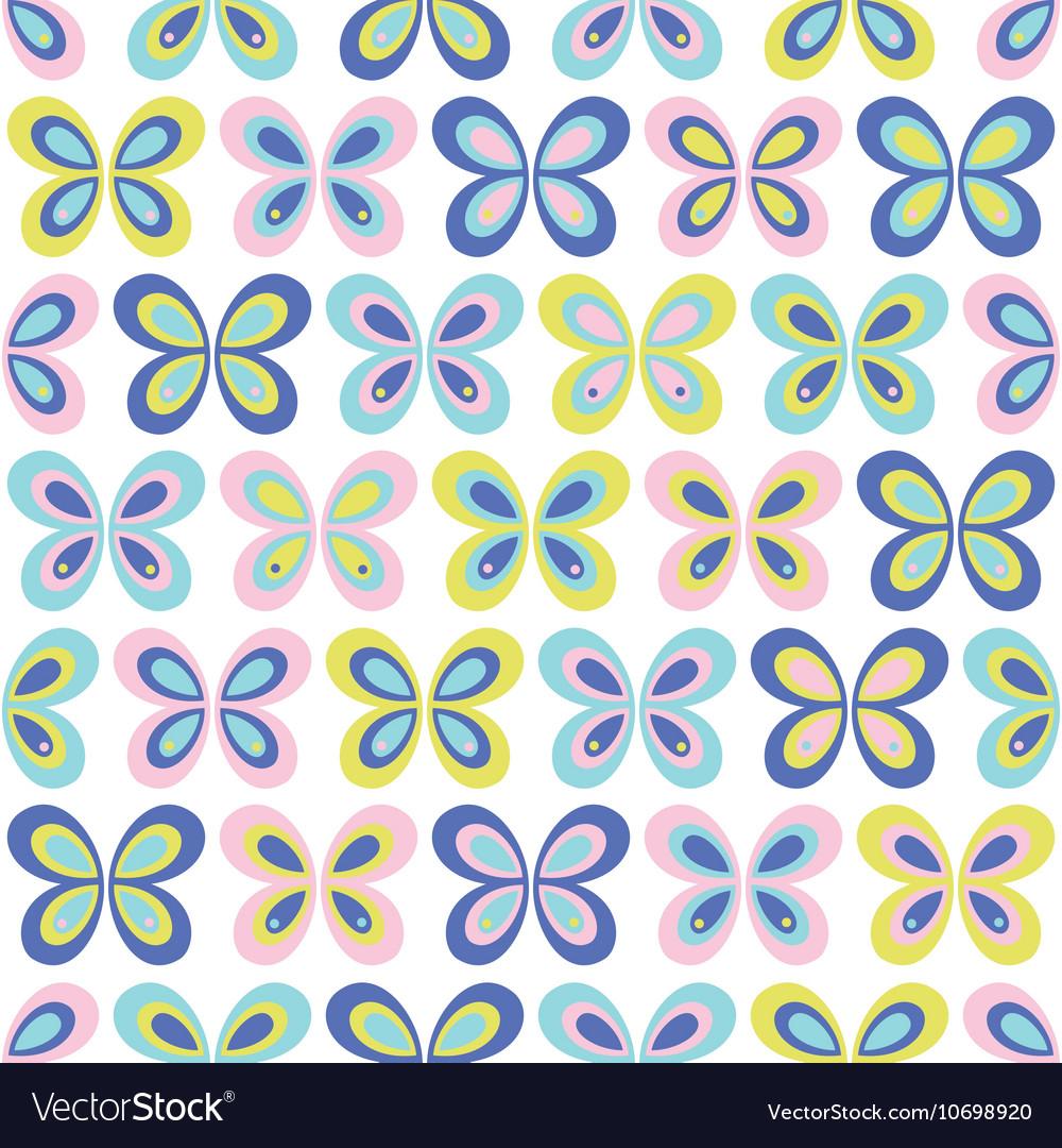 Multicolor geometric butterflies seamless pattern