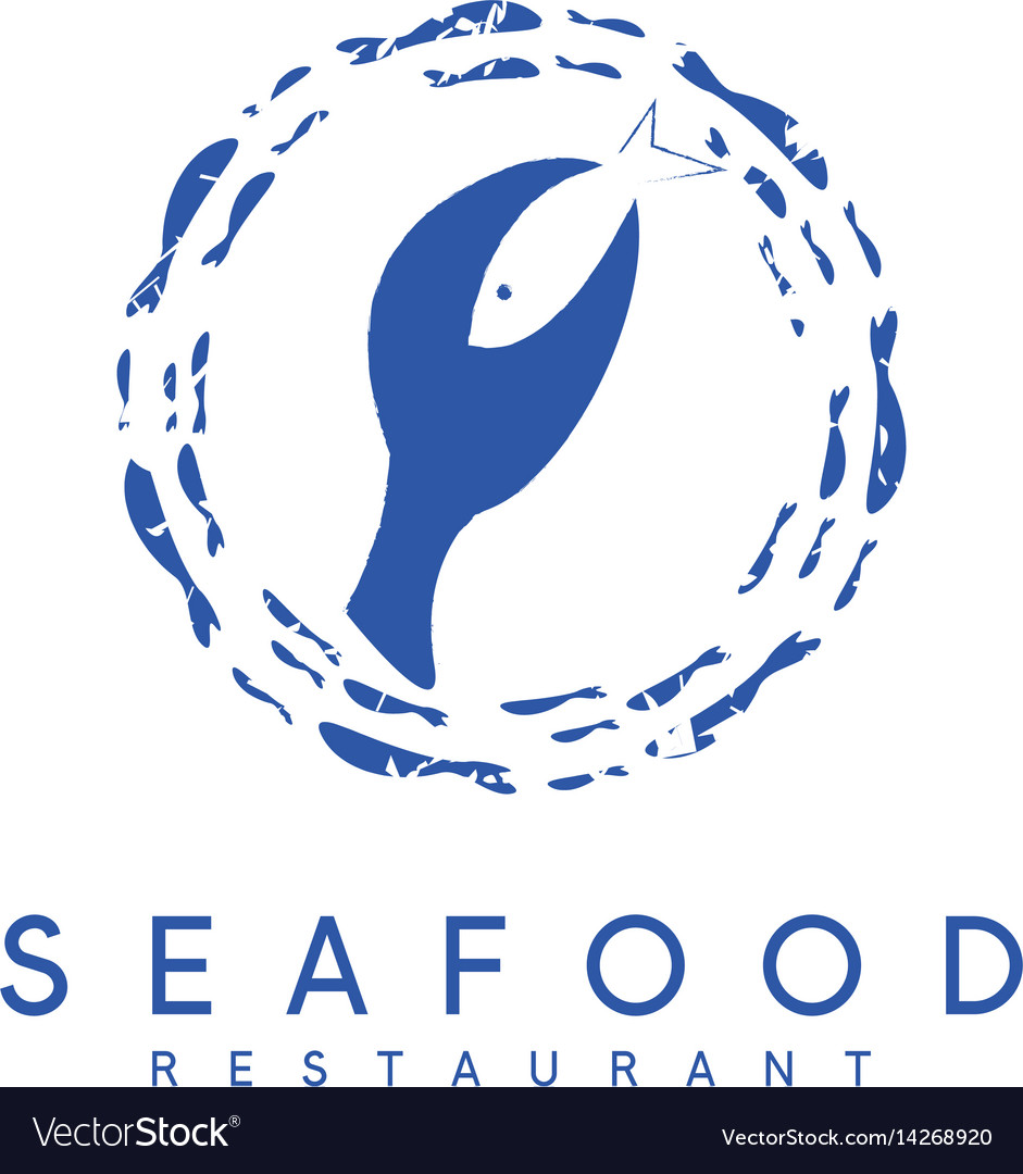 Negative space concept of seafood restaurant with
