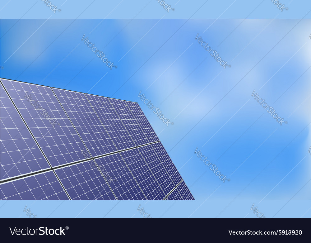 Solar panel over blue sky background