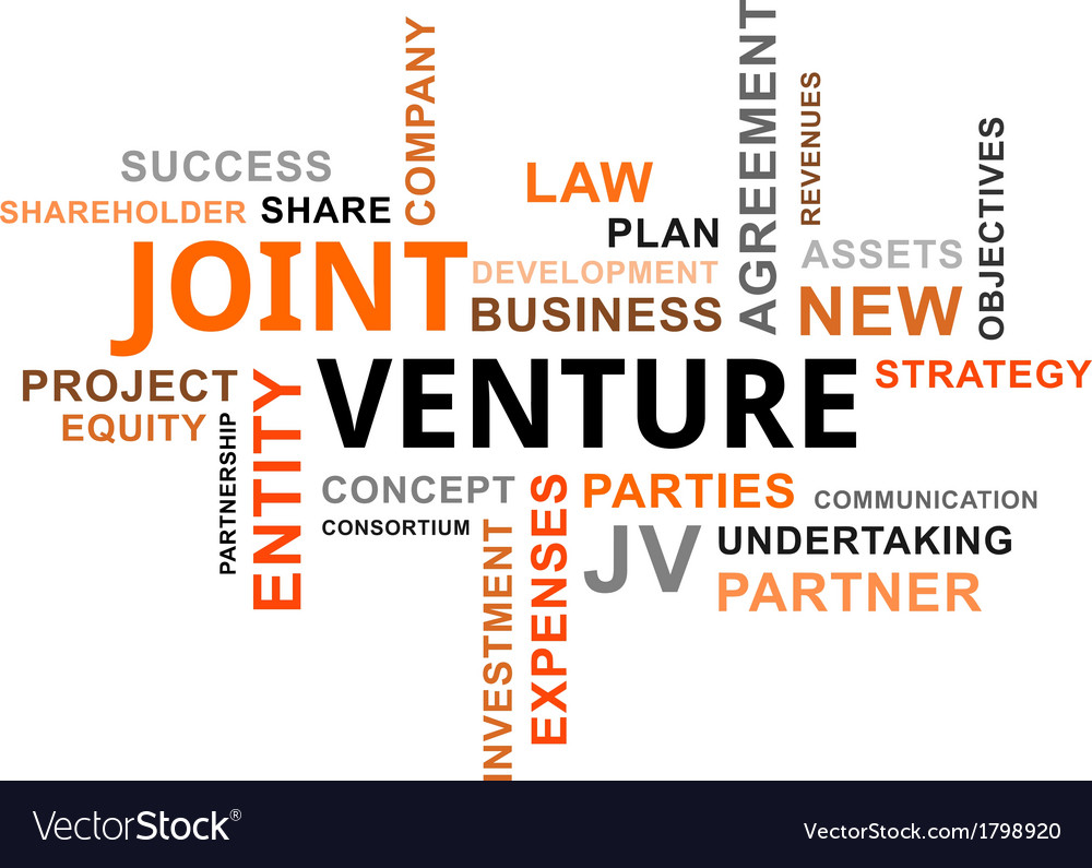 Word Cloud Joint Venture Royalty Free Vector Image