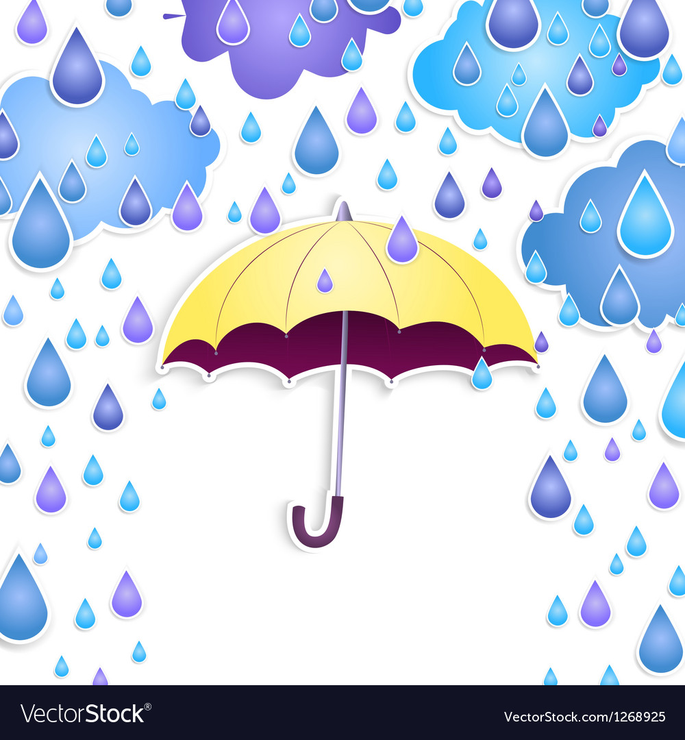 Background with a yellow umbrella vector image