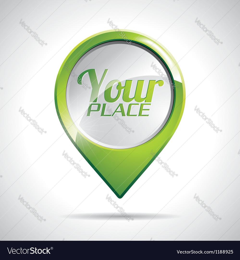 Design with round map pointer icon