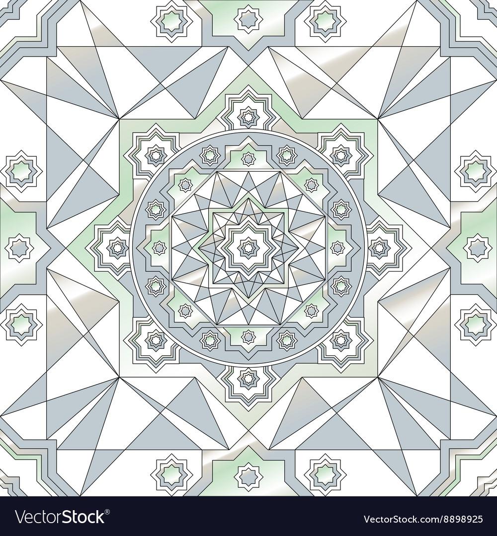 Geometric ornament seamless pattern Black and