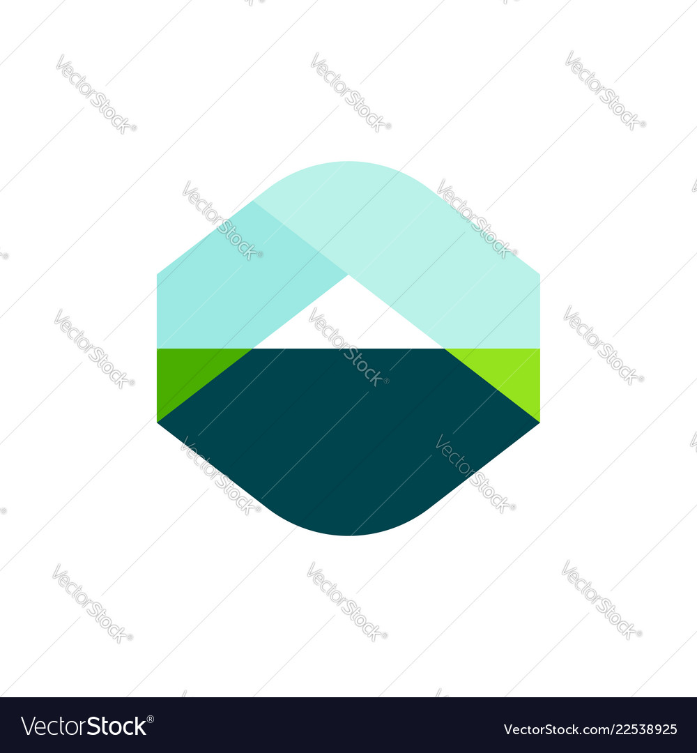 Logo template or icon of landscape with mountain