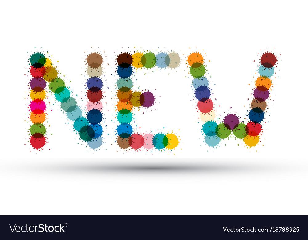 New colorful splashes symbol