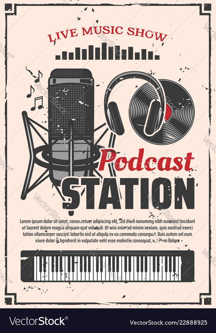Radio music show podcast station retro