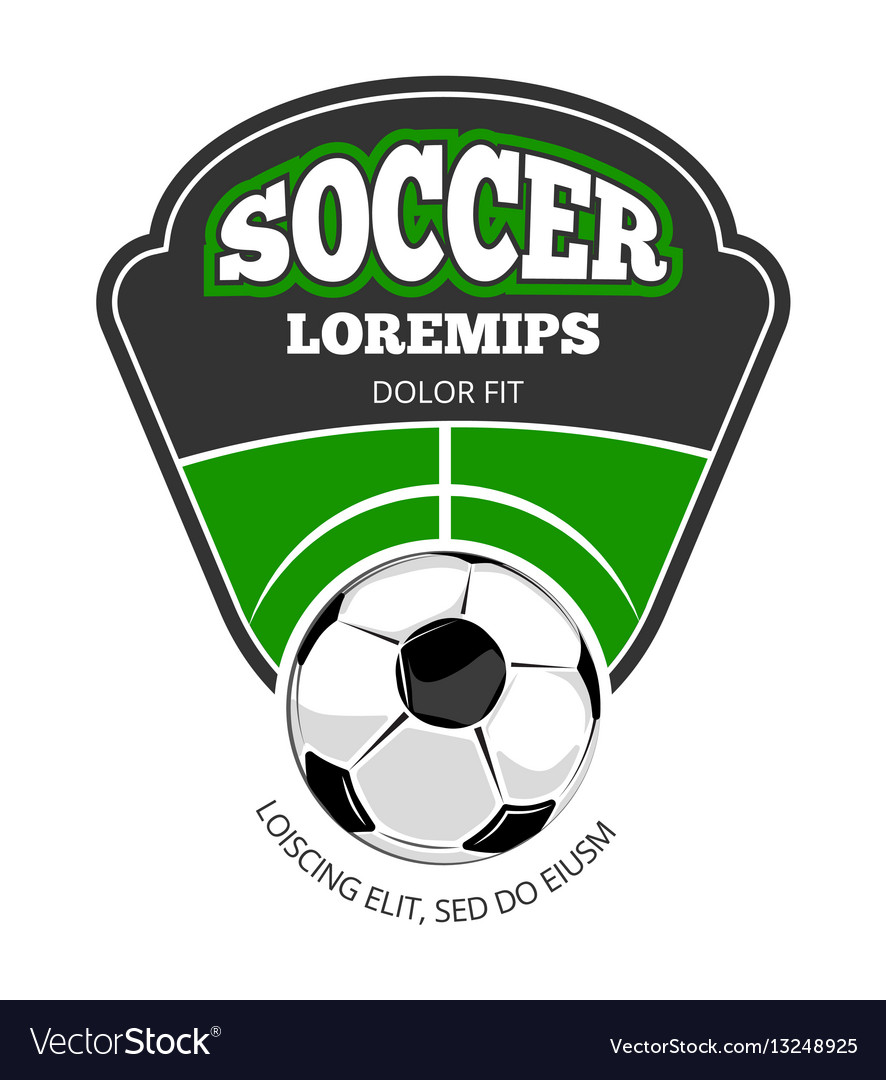Soccer club logo template isolated white
