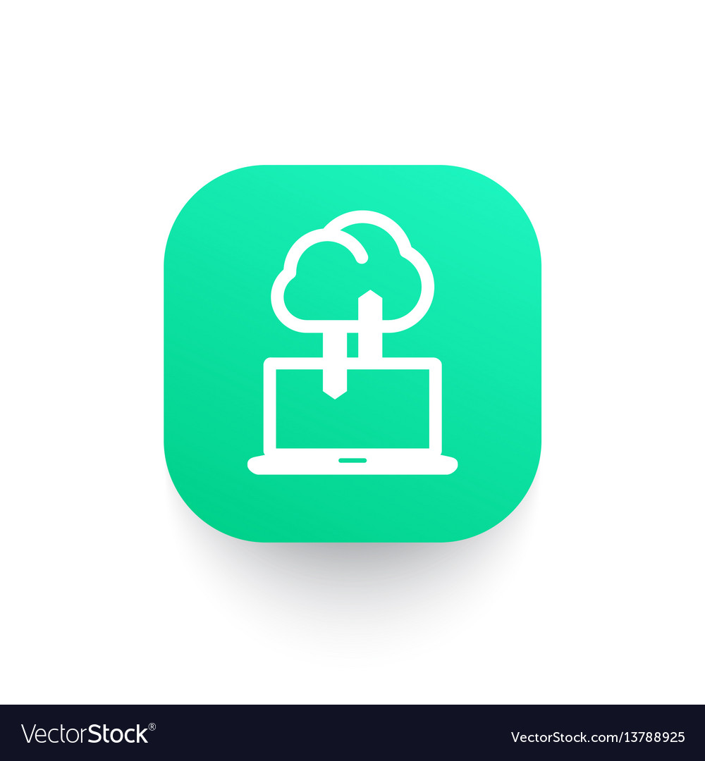 Sync with cloud icon connection synchronization