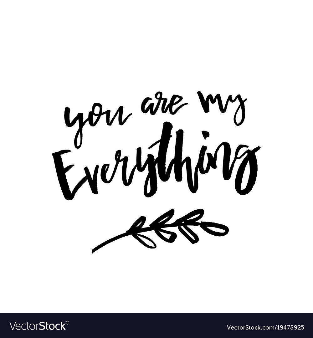 You Are My Everything Happy Valentines Day Card Vector Image