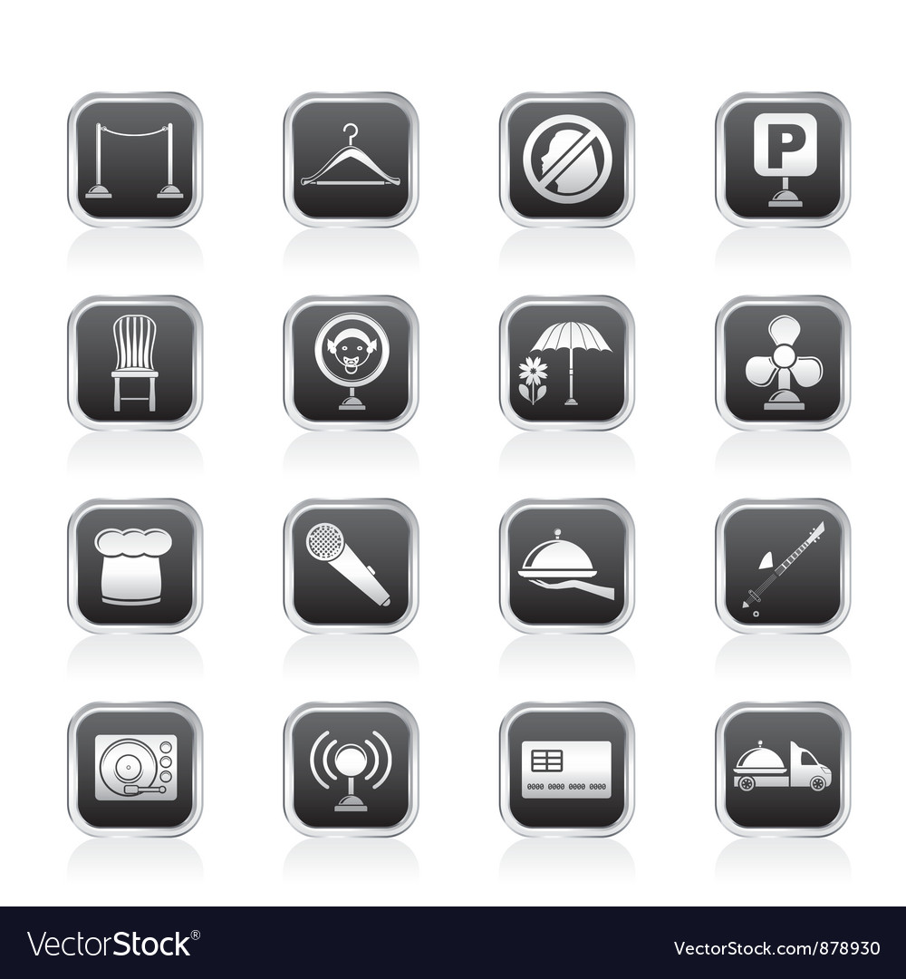 Bar and night club icons vector image