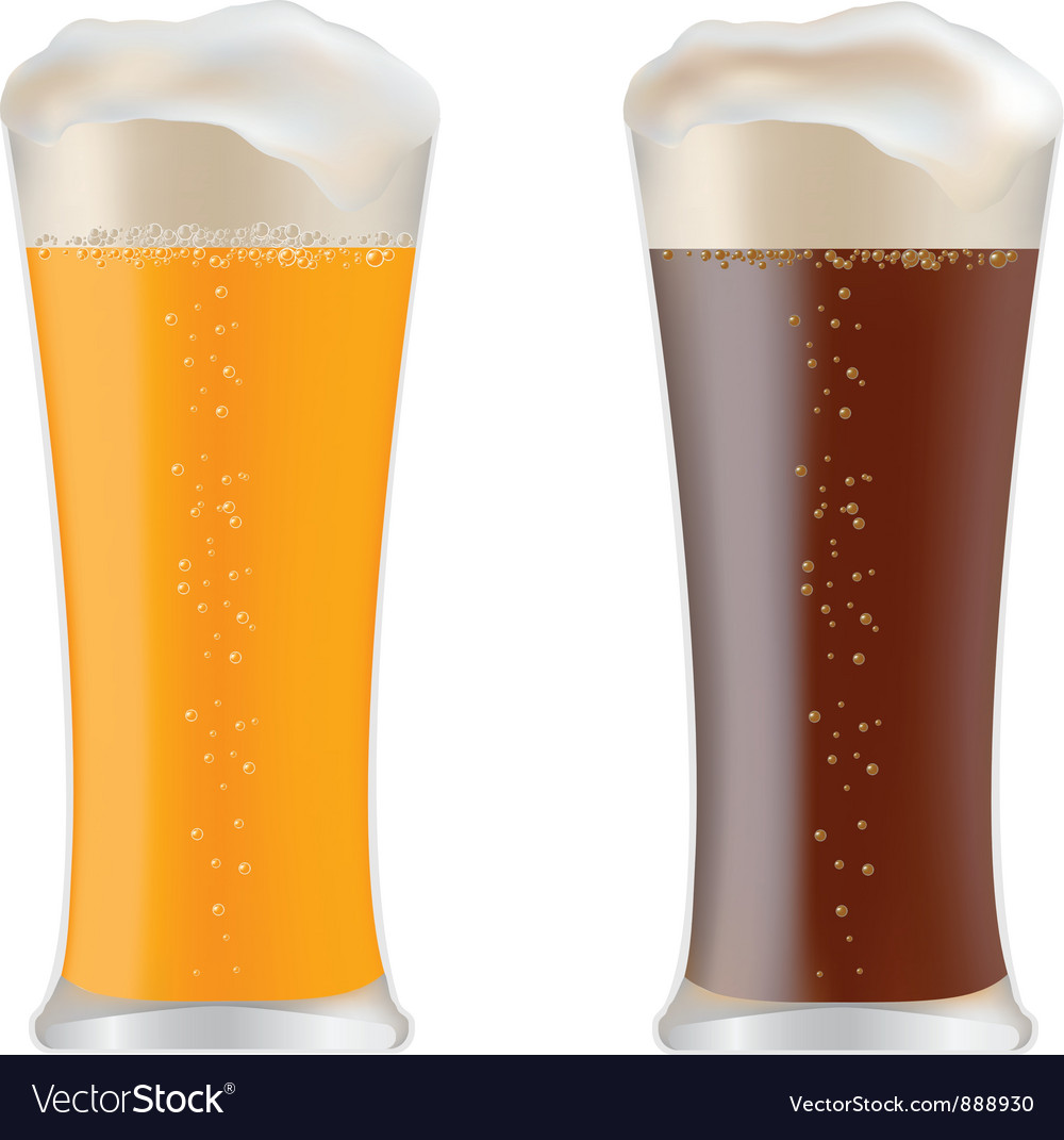 Beer glasses vector image