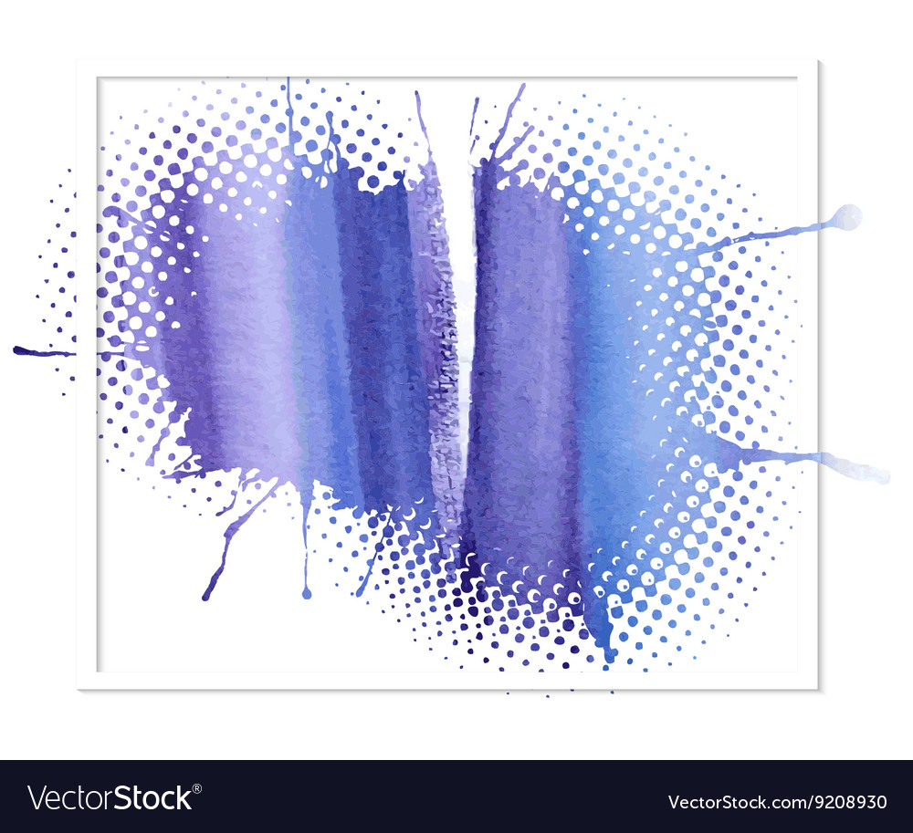 Blue watercolor abstract background vector image