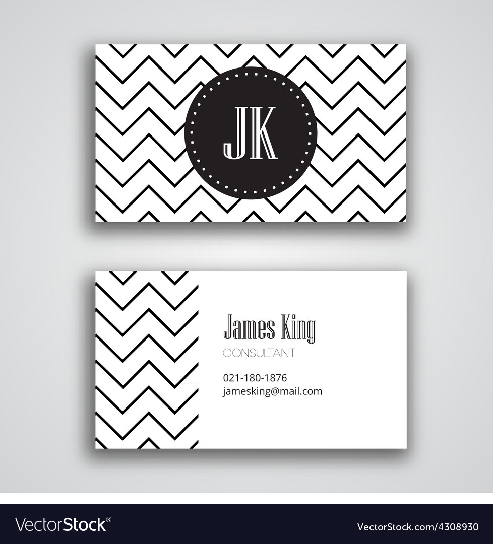 Business Card Template Chevron Royalty Free Vector Image