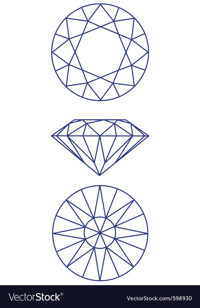 Diamond scheme vector image