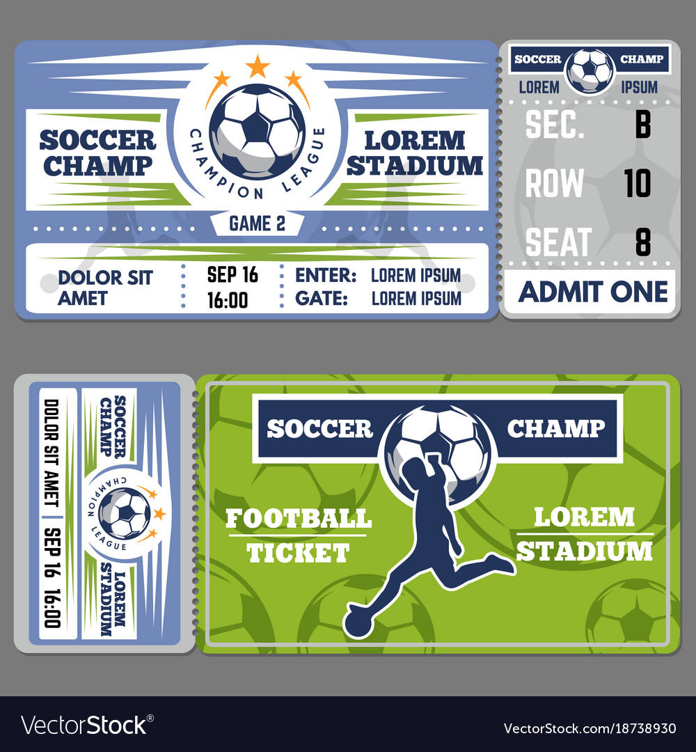 Football Ticket Template Free Download from cdn1.vectorstock.com