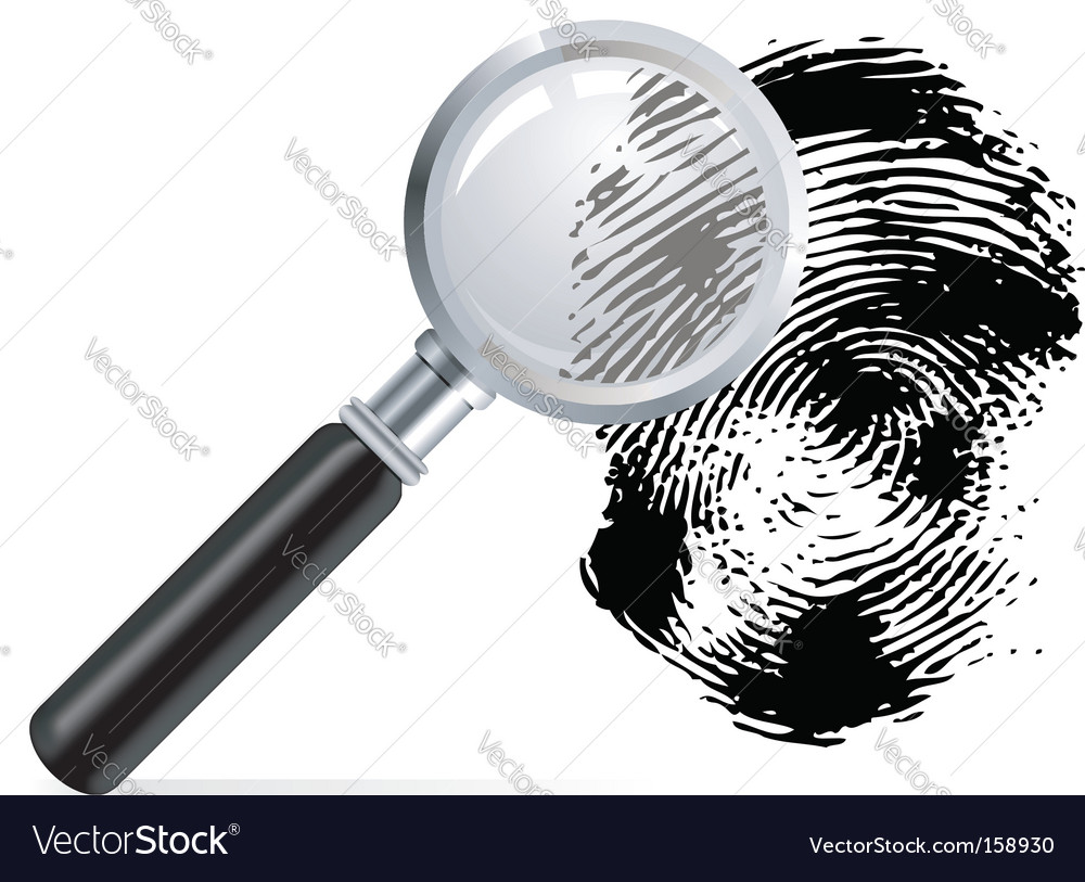 Magnifier with scanned fingerprint