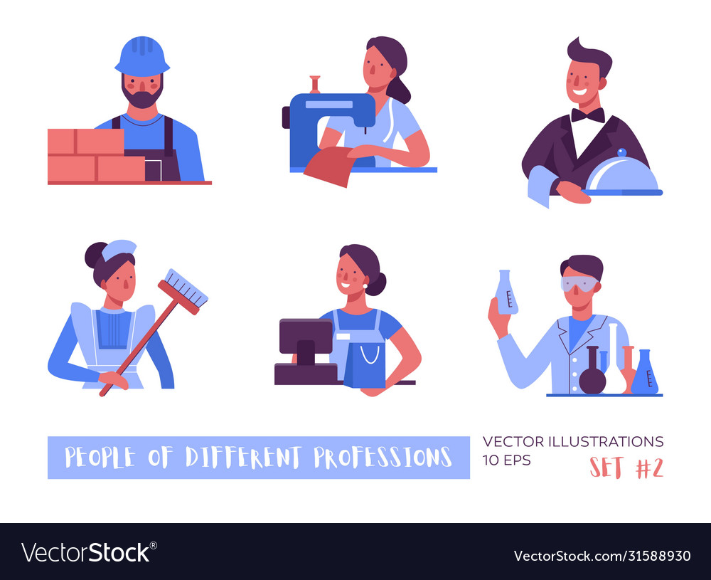 People different professions a set