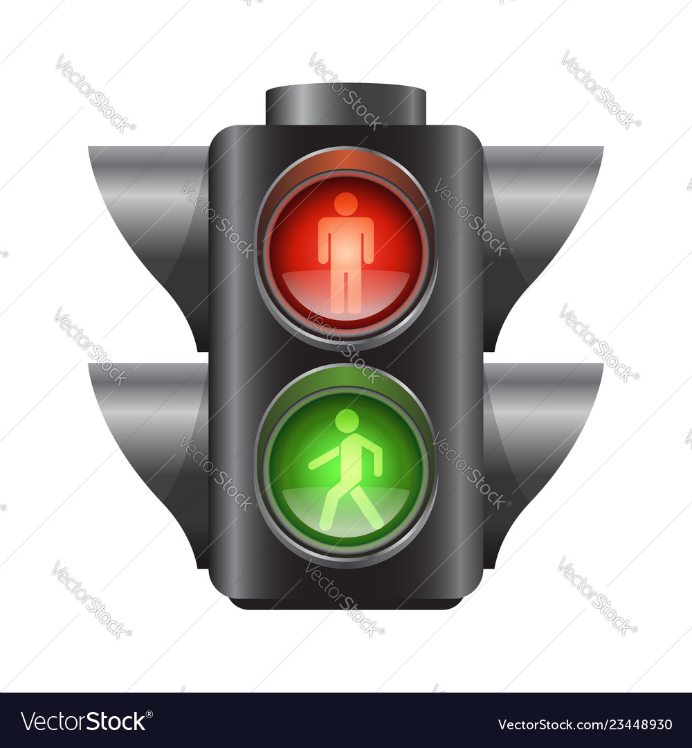 Realistic traffic lights for pedestrians