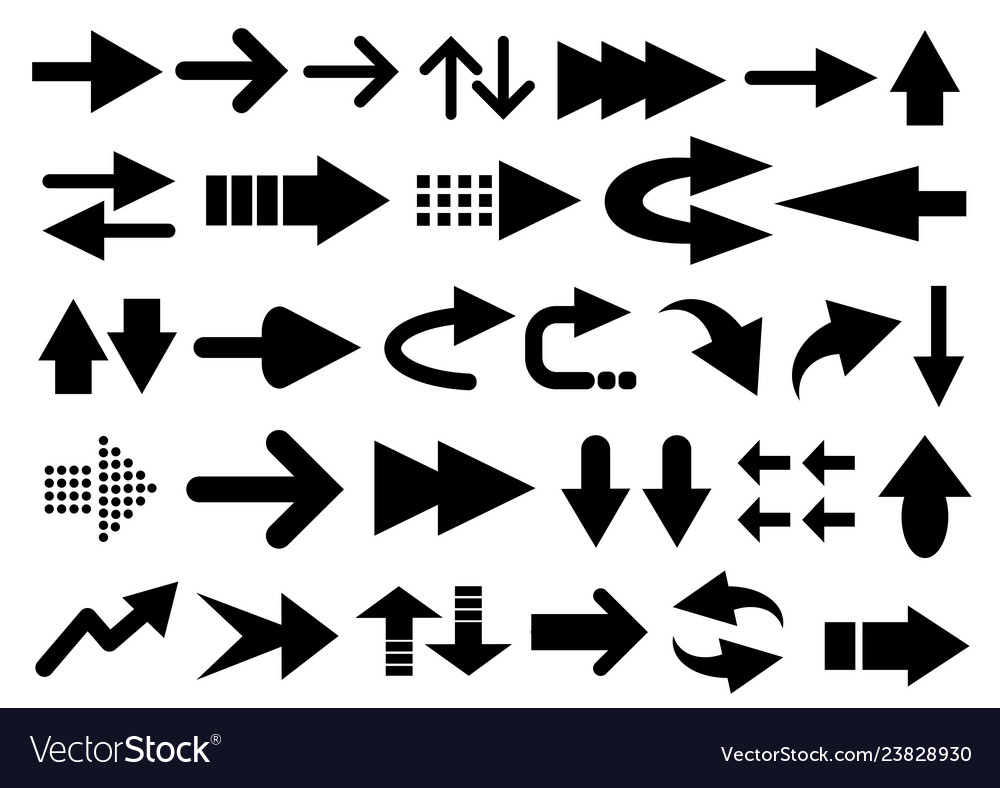 Set of arrow shapes