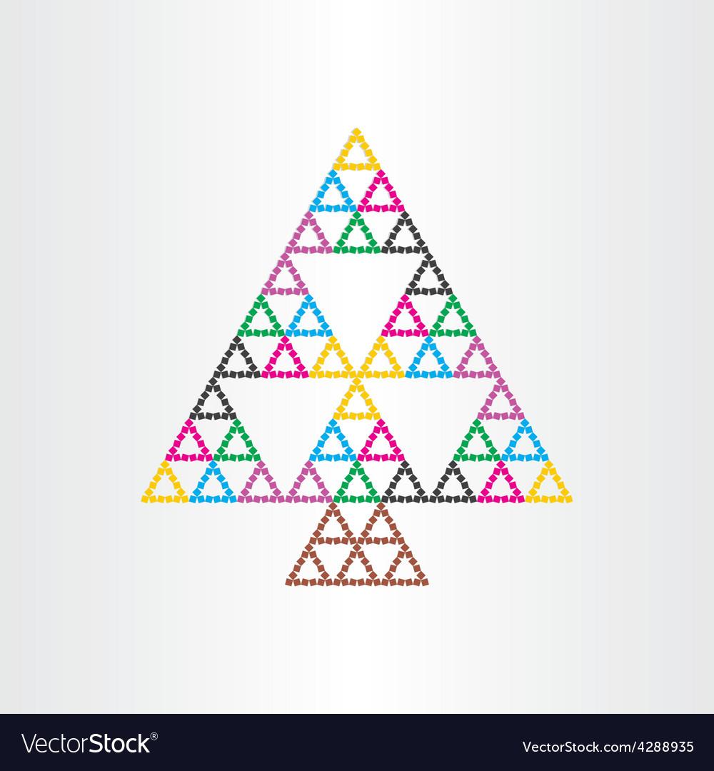 Christmas tree happy new year symbol witg