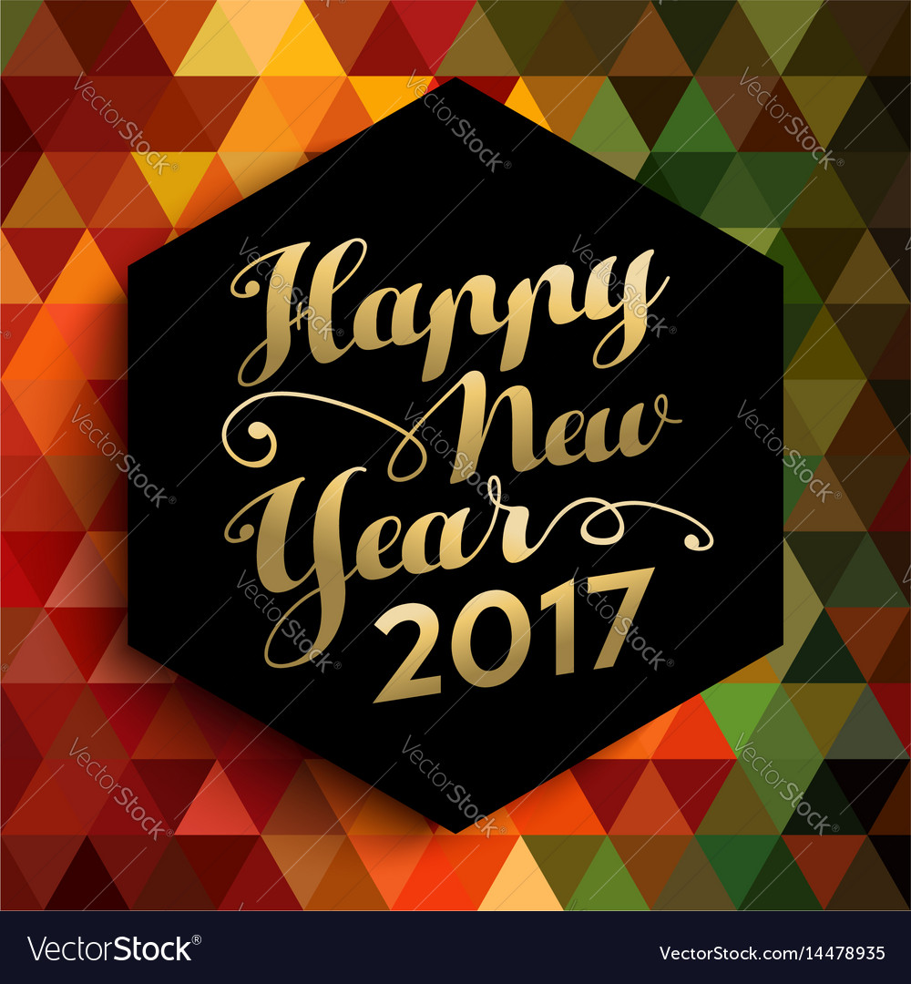 Happy new year 2017 geometric background card