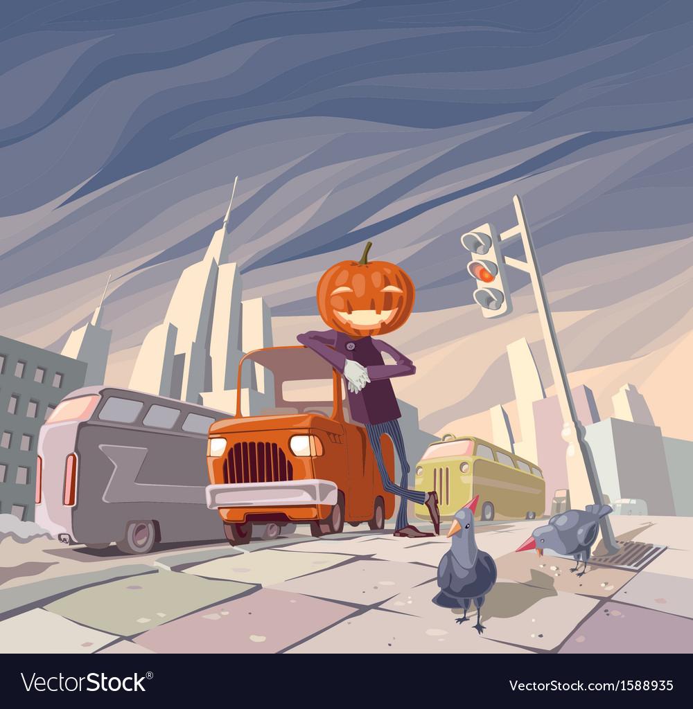 Jack OLantern and His Orange Car