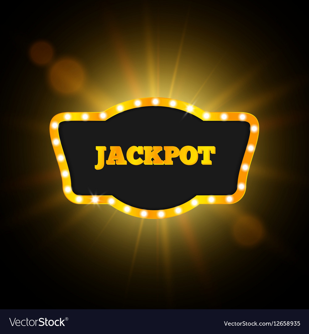 Jackpot Retro Banner Gambling Design