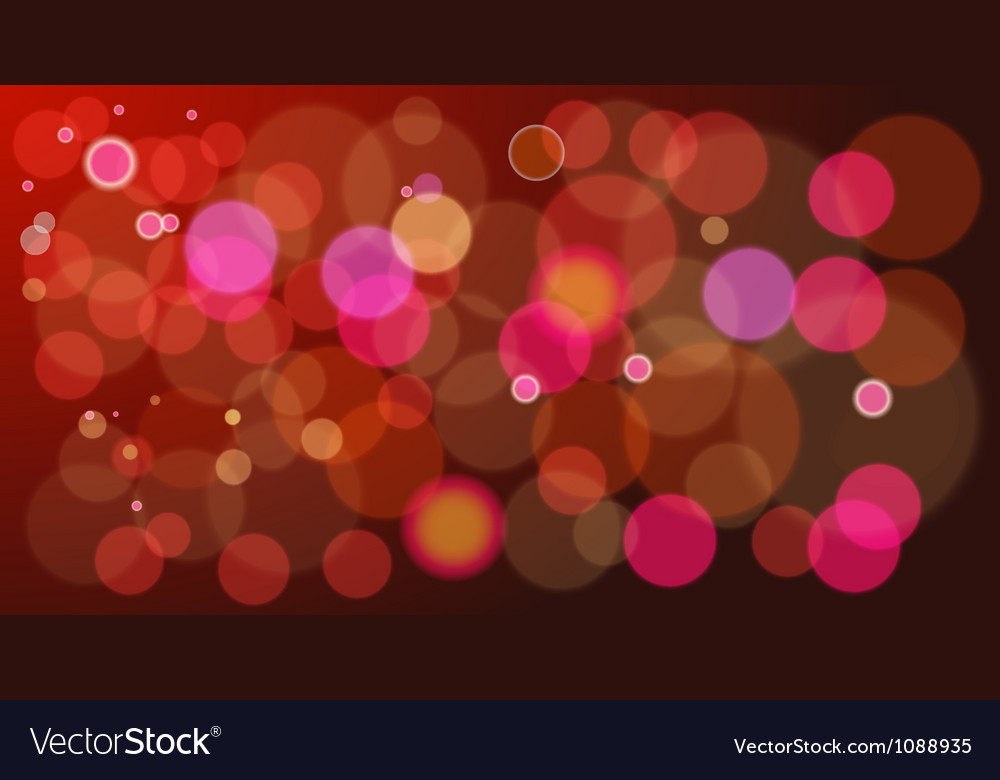 Red boke vector image