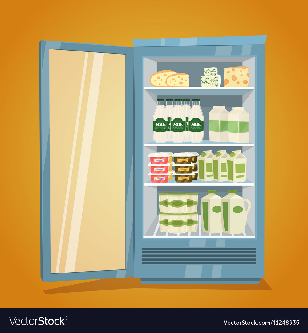 Refrigerator Full of Dairy Products