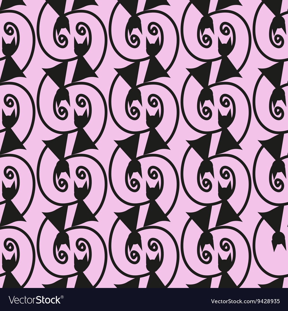 Seamless cat pattern print color stock