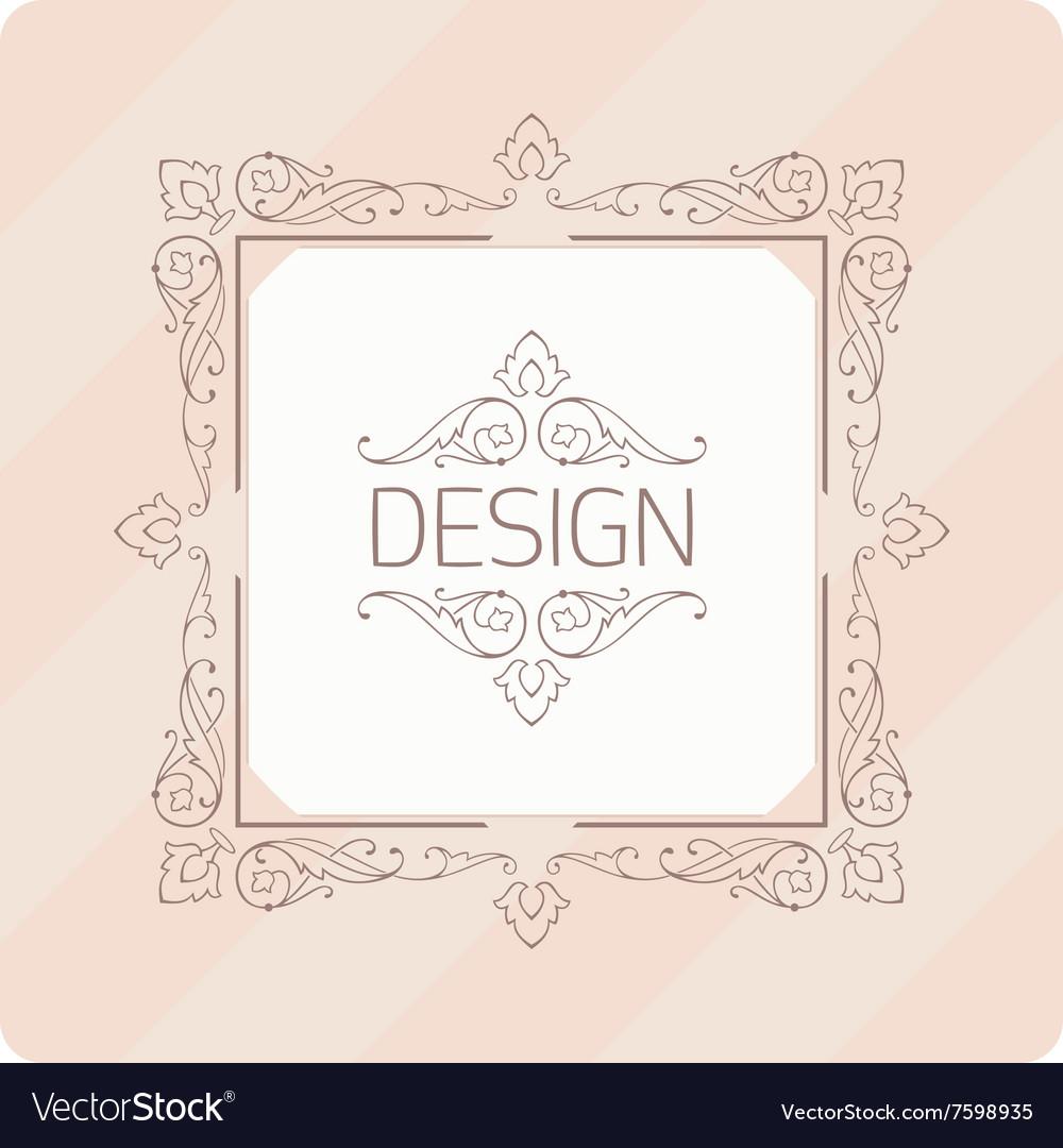 Template vintage frame vector image