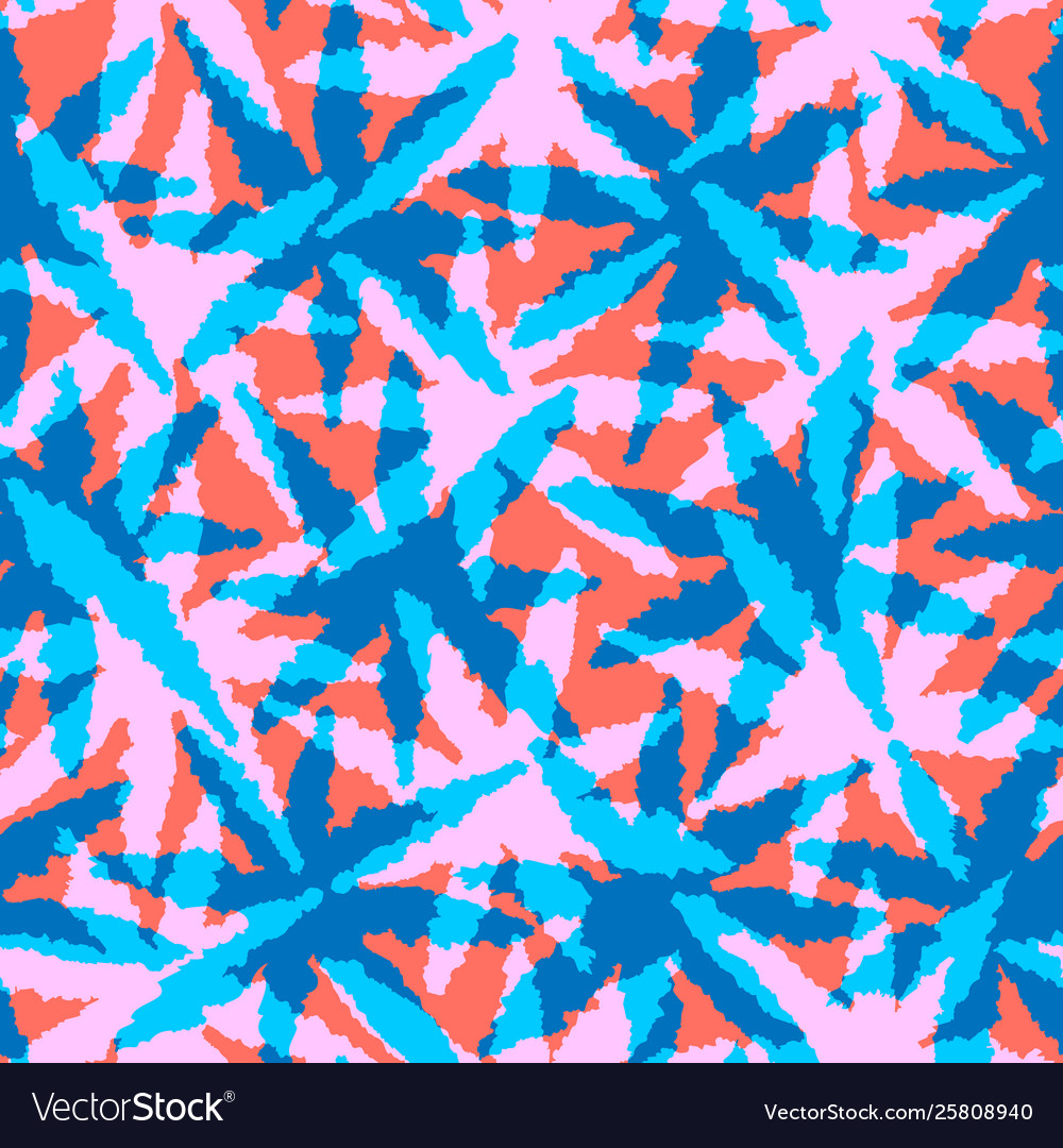 Abstract coral and blue seamless pattern