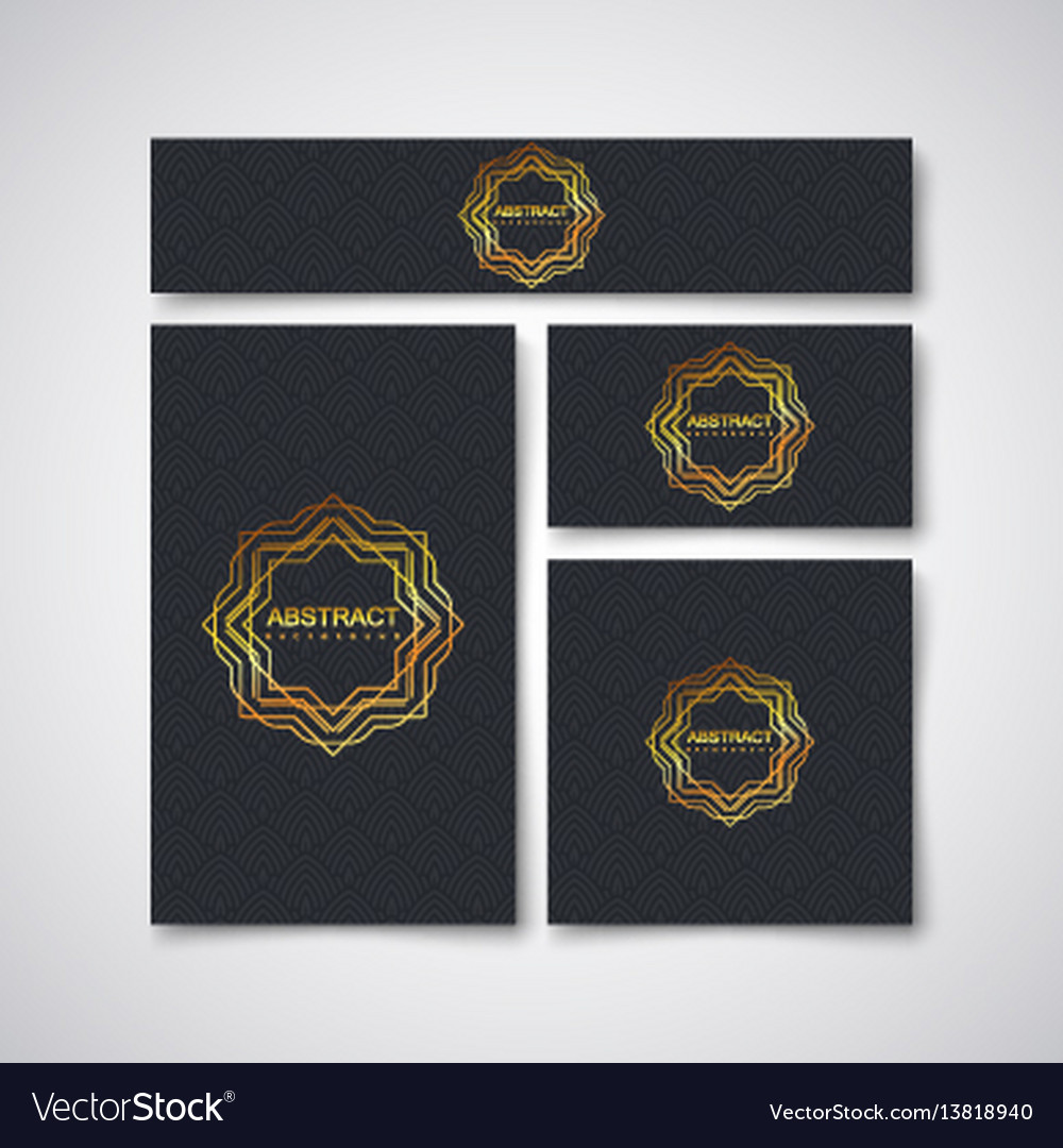 Black business stationery design template