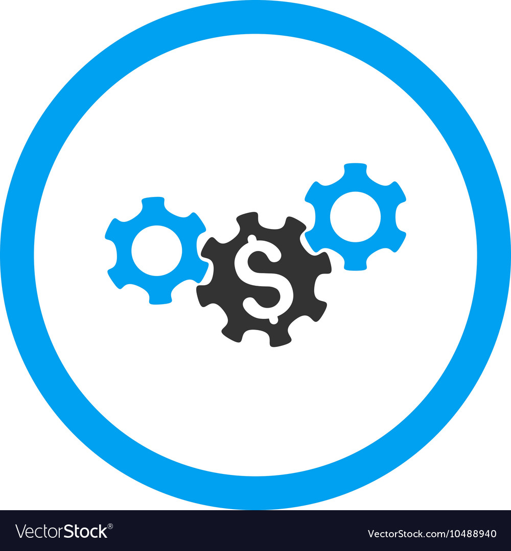 Business Gears Rounded Icon vector image