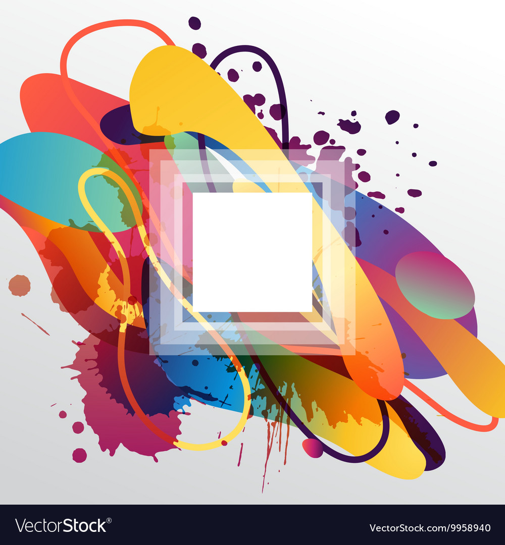 Colorful decorative background with free shapes