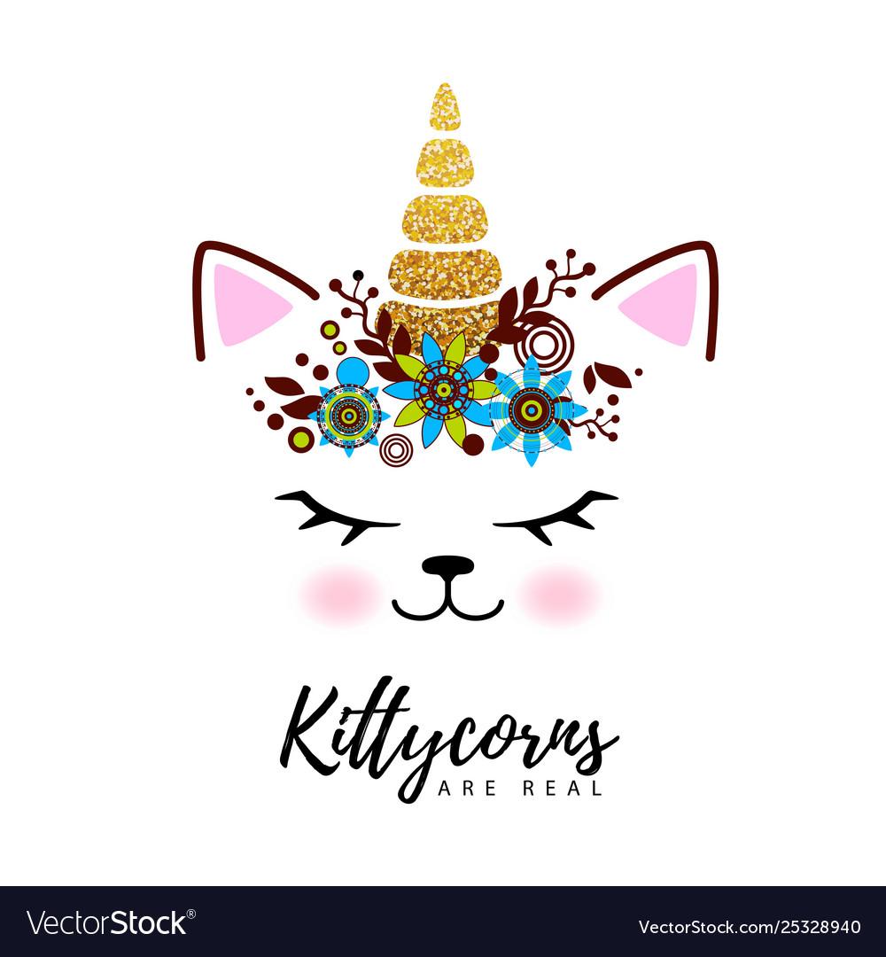 Fantasy animal cat kittycorn