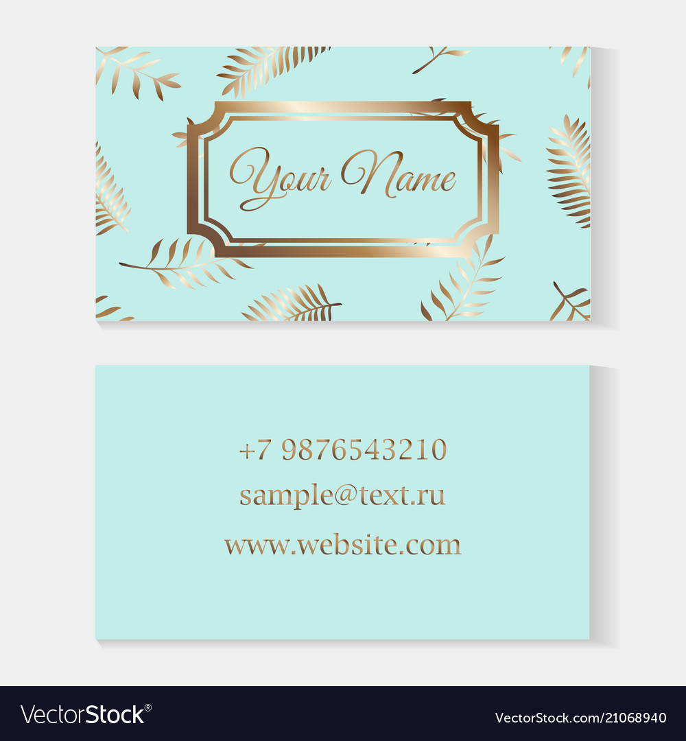 Floral business card templates fashion cards on a vector image accmission Choice Image